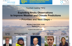 Joint APPLICATE-YOPP TM12 at EGU18: Exploiting Arctic observations to improve weather and climate predictions