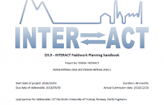 "New deliverable ""INTERACT Fieldwork Planning Handbook"" is available"