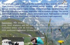 Summer School on Alpine Plant Life at INTERACT station ALPFOR