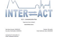New deliverable report for INTERACT III available for download
