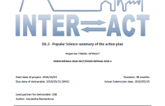 New deliverable report for INTERACT II