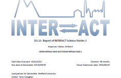 New deliverable report (INTERACT Science Stories 2) available for download